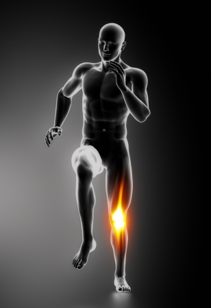 physical injury: Knee Pain Knee Injuries concept Stock Photo