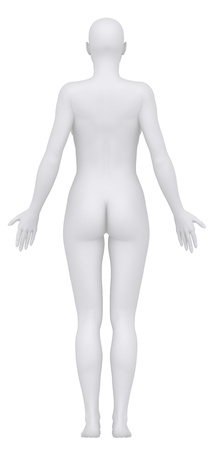 positions: Female body in anatomical position