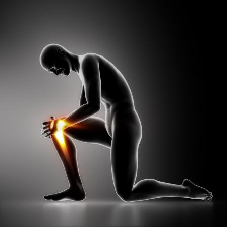 sports medicine: Injury knee concept
