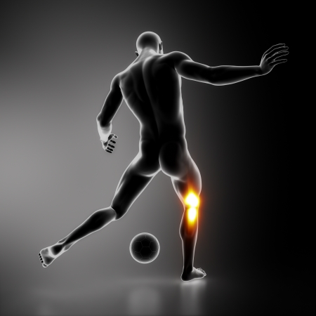 Most stressed sportsman joint KNEE Stock Photo - 16260545