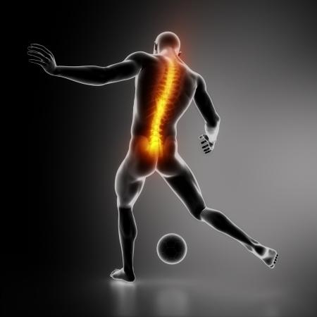Sportsman backbone injury Stock Photo - 16260549