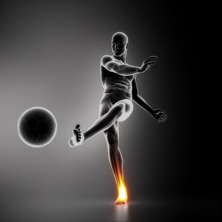 osteoporosis: Jugador de f�tbol lesi�n del tobillo