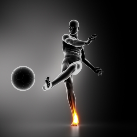 leg injury: Soccer player ankle joint injury