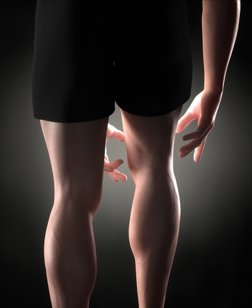 muscle bone: Man knee pain concept Stock Photo