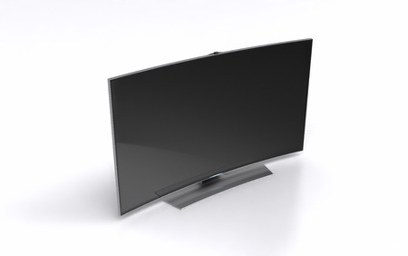 High-end curved smart led tv photo