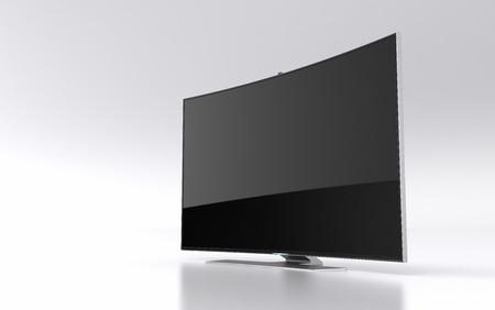 highend: High-end curva TV LED intelligente Archivio Fotografico