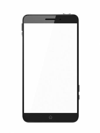 technology icon: Custom smart phone with blank screen