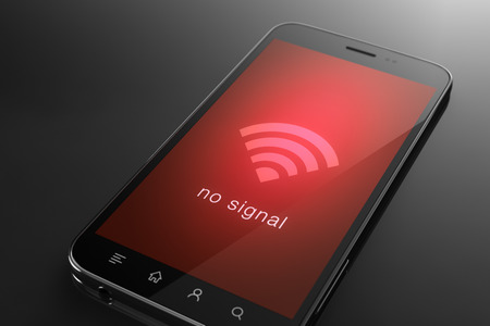 internet connection: No signal wifi concept