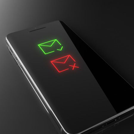 received: Received and deleted messages - custom smart phone concept Stock Photo