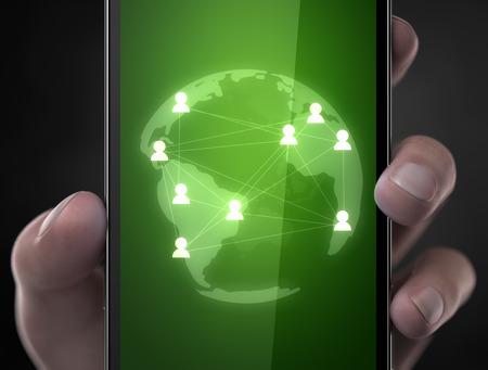 worl: Community in worl wide web custom smart phone concept