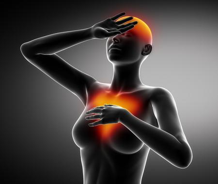 Female heart attack cardio disorder photo