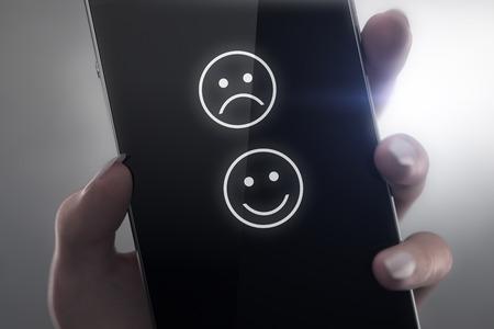carita feliz caricatura: Smiley icono concepto