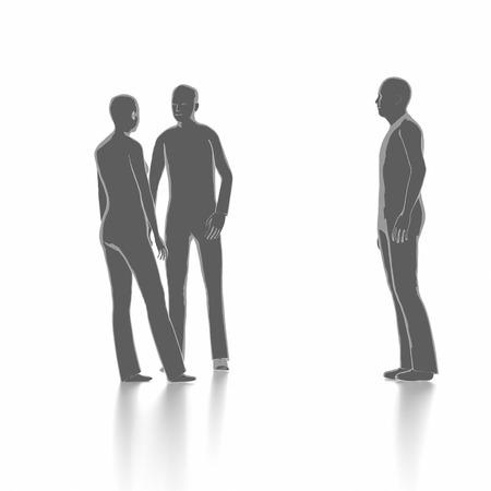 argumentation: People in brainstorming concept