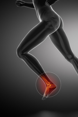 ankle: Running woman - ankle anatomy