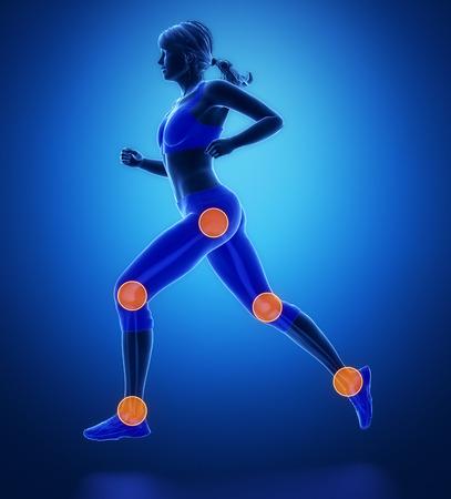 脚が最も regoins スポーツ - 足首、股関節、膝を負傷