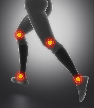pubis: Leg most injured regoins in sport - ankle and knee