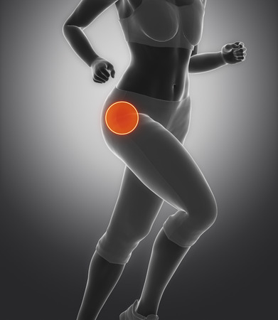femoral: Focused on hip in sports injuries Stock Photo