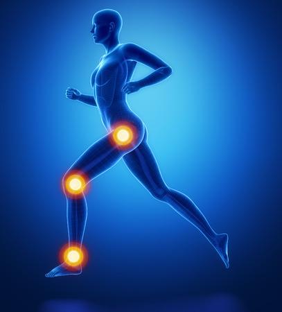 broken knee: Leg most injured regoins in sport - ankle,hip,knee