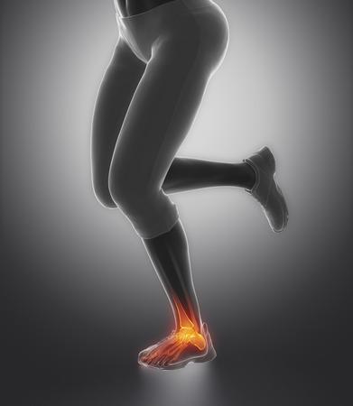 flexion: Ankle pain concept