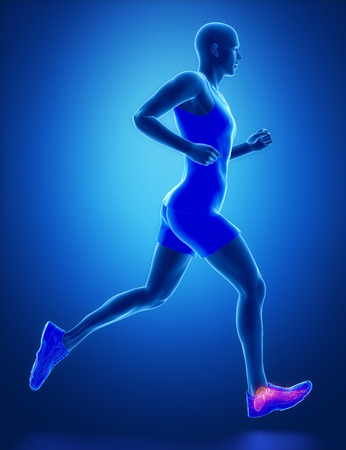 ANkle - running man leg scan in blue Stock Photo - 40324099