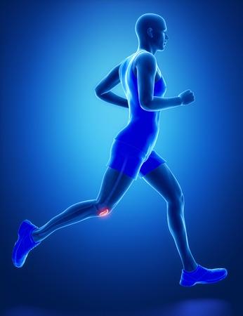 patella: PATELLA - running man leg scan in blue