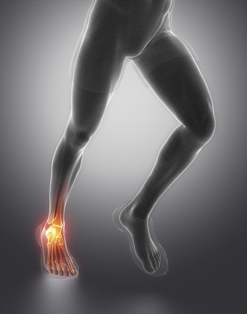 flexion: Focused on ankle joint Stock Photo