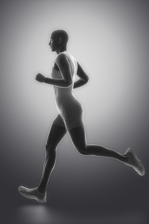 human bones: Hombre Jogging