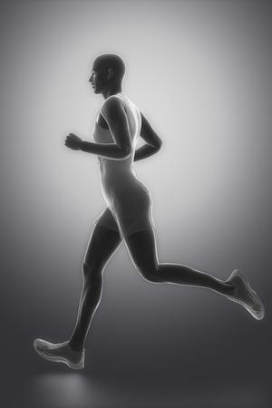 skeleton man: Jogging-Mann Lizenzfreie Bilder