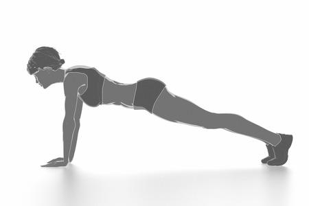Fitness Frau, die sich isoliert auf weiß - aufwärmen Konzept Standard-Bild - 54728893