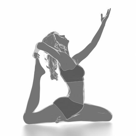 Trainieren Sie und Fitness-Konzept - Yoga Standard-Bild - 54728942
