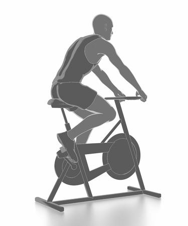 Trainieren Sie und Fitness-Konzept - Fahrrad aufwärmen Standard-Bild - 54728947