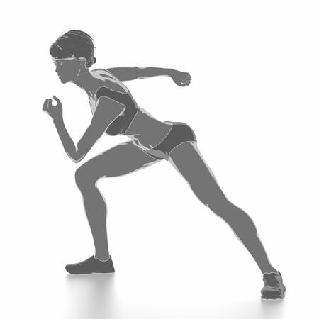Fitness Frau, die sich isoliert auf weiß - aufwärmen Konzept Standard-Bild - 54728952