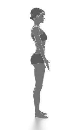 Fitness Frau, die sich isoliert auf weiß - aufwärmen Konzept Standard-Bild - 54728988