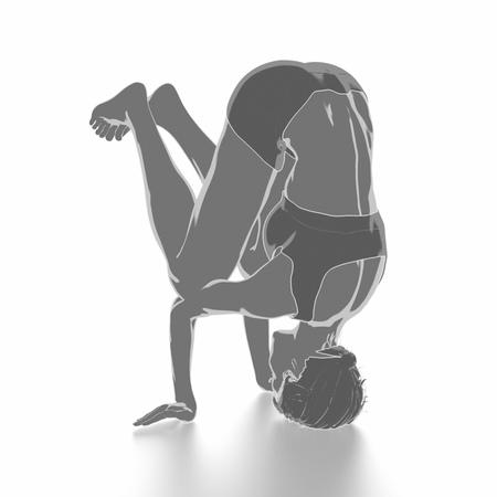 Fitness Frau, die sich auf weißem Hintergrund - Yoga-Konzept Standard-Bild - 54728992