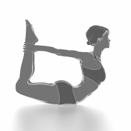 Fitness Frau, die sich auf weißem Hintergrund - Yoga-Konzept Standard-Bild - 54729002