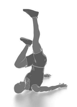 Fitness und Stretching auf weißem Hintergrund - aufwärmen Konzept Standard-Bild - 54729019
