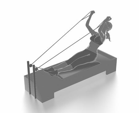 Trainieren Sie und Fitness-Konzept Standard-Bild - 54729033