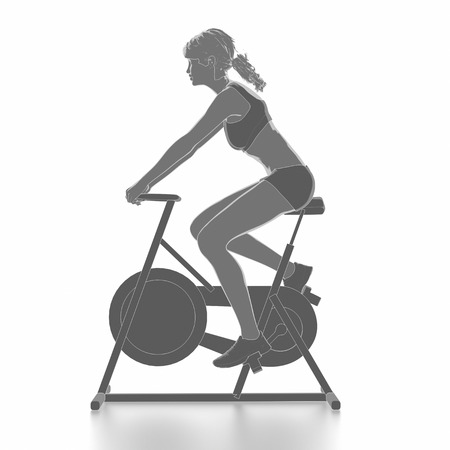 Work out and fitness concept - bike warm up