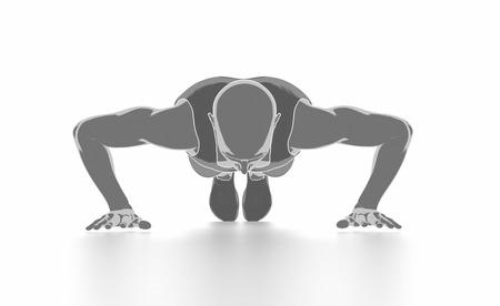 Fitness und Stretching auf weißem Hintergrund - aufwärmen Konzept Standard-Bild - 54729060