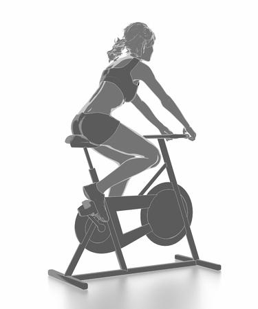 Trainieren Sie und Fitness-Konzept - Fahrrad aufwärmen Standard-Bild - 54729068
