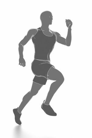 Fitness und Stretching auf weißem Hintergrund - aufwärmen Konzept Standard-Bild - 54729073