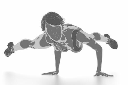 Fitness Frau, die sich isoliert auf weiß - aufwärmen Konzept Standard-Bild - 54729079