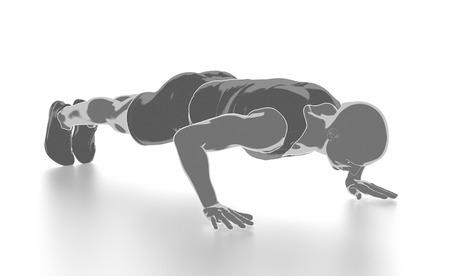 Fitness und Stretching auf weißem Hintergrund - aufwärmen Konzept Standard-Bild - 54729134