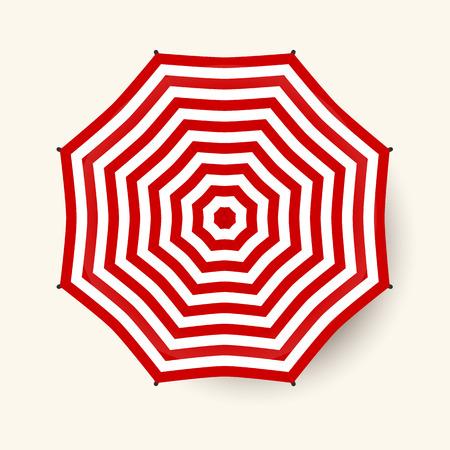 Umbrella top view. Red vector beach umbrella. Stock Vector - 58173520