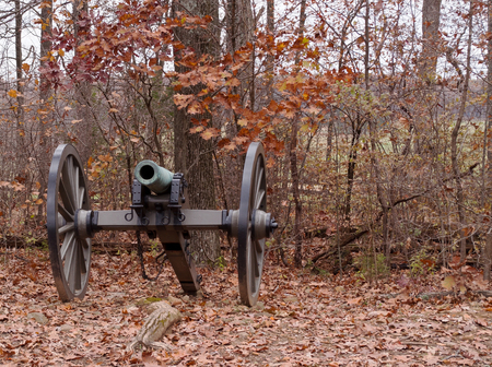 A Civil War cannon from Gettysburg, Pennsylvania in the fall