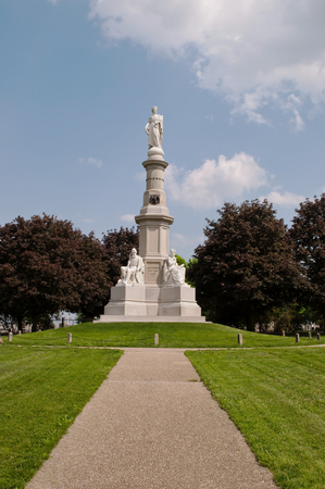 GETTYSBURG, PENNSYLVANIA 5-15-2018 The Soldiers National Monument in the Gettysburg National Cemetery