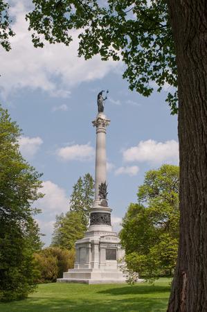 GETTYSBURG, PENNSYLVANIA 5-15-2018 The New York Monument in the Gettysburg National Cemetery