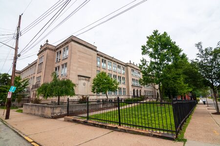 Pittsburgh, Pennsylvania, USA 6/15/2019 Pittsburgh Westinghouse High School in the Homewood neighborhood of the city
