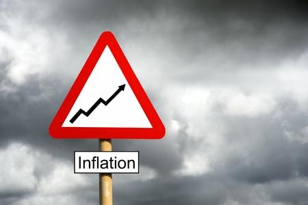 underlying: Inflation Warning Stock Photo