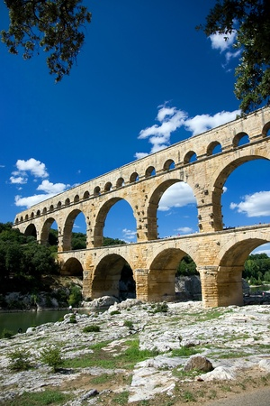 Pont du Gard Aqueduct Stock Photo